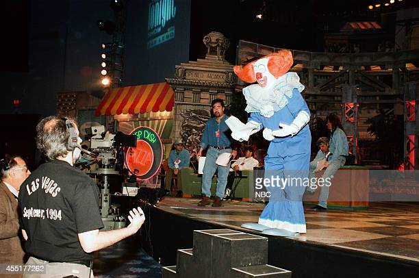Joey D'Auria as Bozo the Clown rehearses on stage on May 1 1996