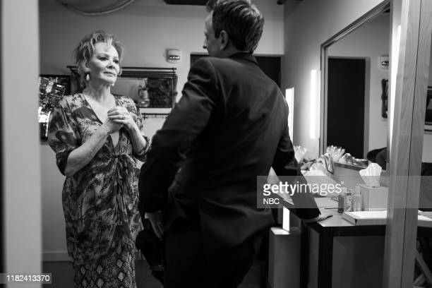 MEYERS Episode 914 Pictured Actress Jean Smart talks with host Seth Meyers backstage on November 14 2019