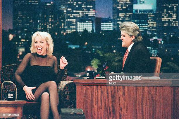 Actress Brett Butler during an interview with host Jay Leno on May 6 1996