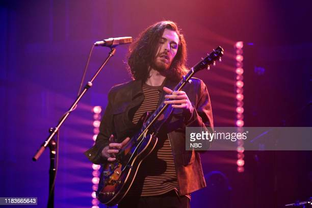 Musical guest Hozier performs on November 20 2019