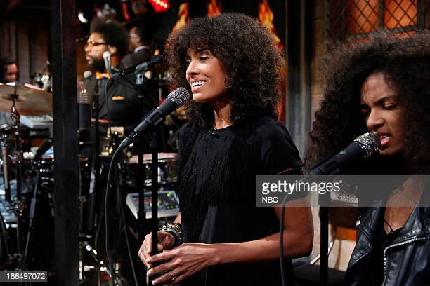 Music guest Amel Larrieux performs with The Roots on Thursday October 31 2013