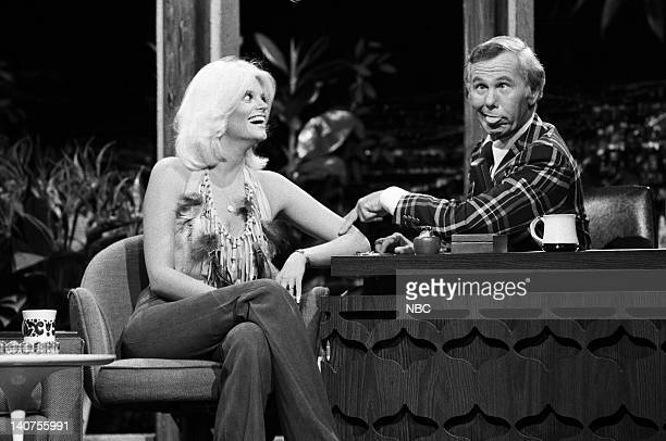 Actress Carol Wayne and host Johnny Carson on September 2 1974 Photo by Fred Sabine/NBC/NBCU Photo Bank