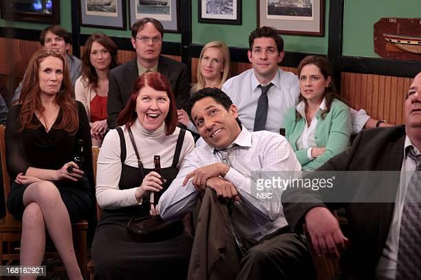 Episode 922 -- Pictured: Catherine Tate as Nellie Bertram, Jake Lacy as Pete, Ellie Kemper as Erin Hannon, Rainn Wilson as Dwight Schrute, Kate...