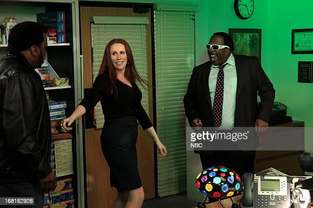 THE OFFICE AARM Episode 922 Pictured Craig Robinson as Darryl Philbin Catherine Tate as Nellie Bertram Leslie David Baker as Stanley Hudson