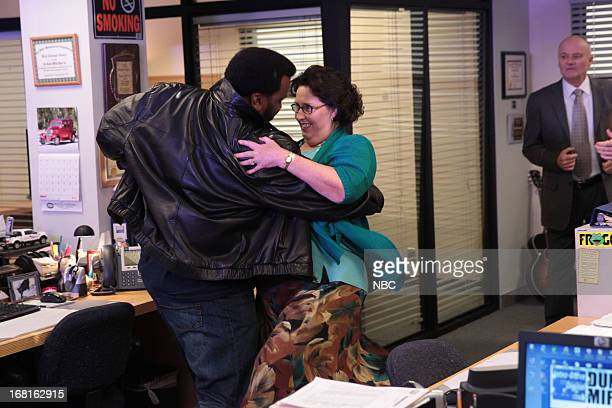THE OFFICE AARM Episode 922 Pictured Craig Robinson as Darryl Philbin Phyllis Smith as Phyllis Vance Creed Bratton as Creed Bratton