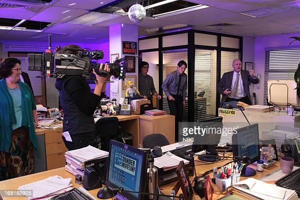THE OFFICE AARM Episode 922 Pictured Phyllis Smith as Phyllis Vance Clark Duke as Clark Jake Lacy as Pete Creed Bratton as Creed Bratton