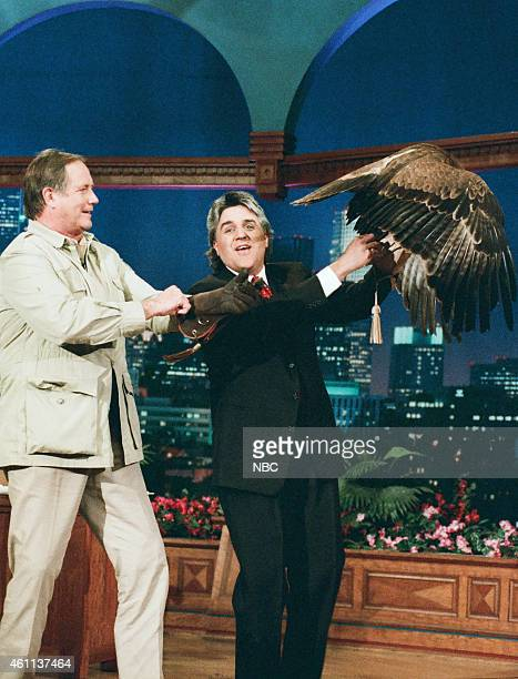 Zoologist Jim Fowler during an interview with host Jay Leno on May 15 1996