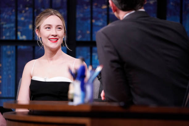 "NY: NBC'S ""Late Night With Seth Meyers"" With Guests Saoirse Ronan, Alex Borstein, Dan Soder (Band Sit-In: Coady Willis)"