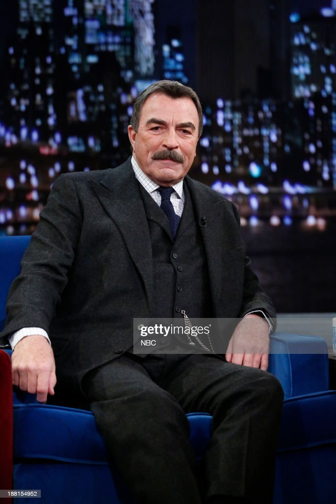 """NBC's """"Late Night with Jimmy Fallon"""" With Guests Tom Selleck, Jena Malone, Johnny Marr"""