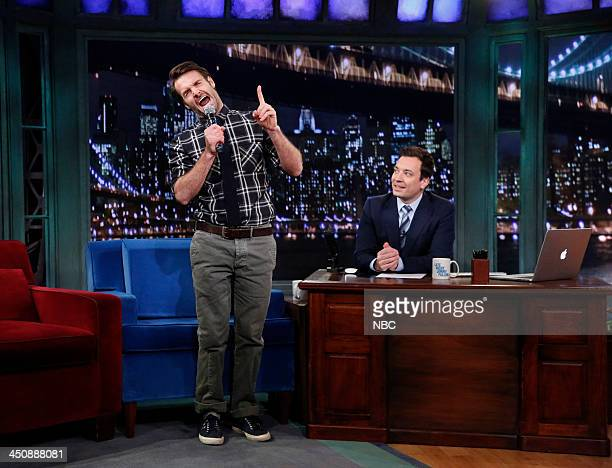 Will Forte with host Jimmy Fallon during an interview on Wednesday November 20 2013