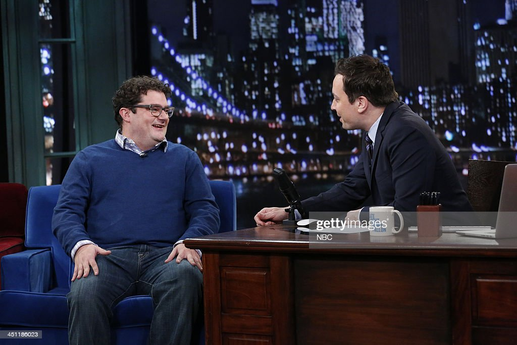 Bobby Moynihan with host Jimmy Fallon during an interview on Thursday, November 21, 2013 --