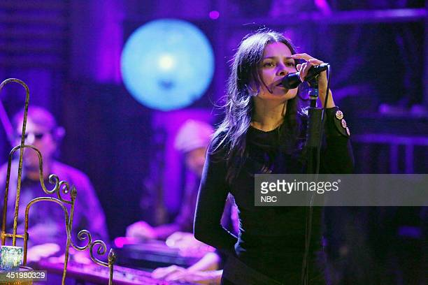 Music guest Hope Sandoval of Mazzy Star performs California on Monday November 25 2013