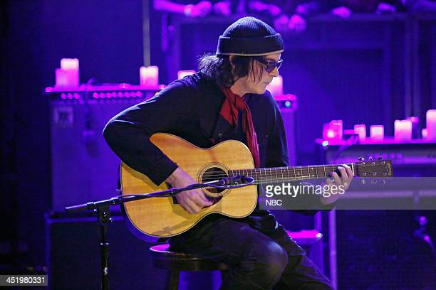 "Episode 936 -- Pictured: Musical guest David Roback of Mazzy Star performs ""California"" on Monday, November 25, 2013 --"