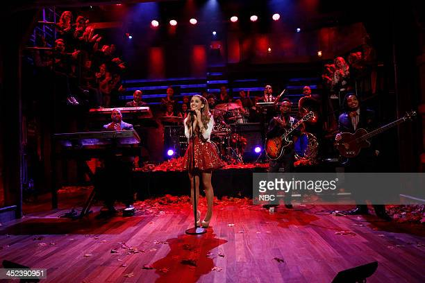 """Episode 939 -- Pictured: Music guest Ariana Grande performs """"Last Christmas"""" on Thursday, November 28, 2013 --"""