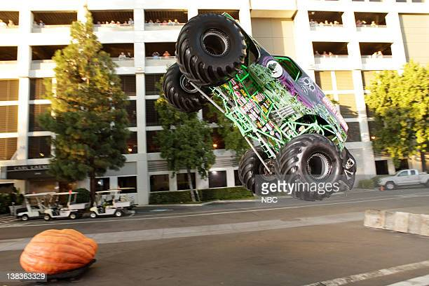 BRIEN Episode 94 Air Date Pictured Dennis Anderson driver of Grave Digger smashes the worlds largest pumpkin on October 30 2009