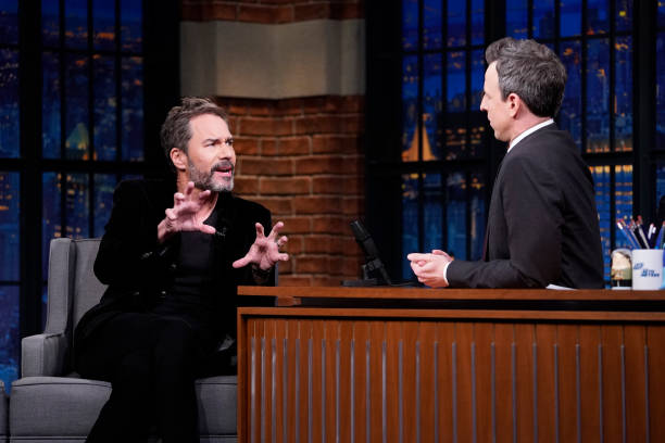"NY: NBC'S ""Late Night With Seth Meyers"" With Guests Eric McCormack, Lewis Black, CHELSEA CUTLER (Band Sit-In: Adam Marcello)"