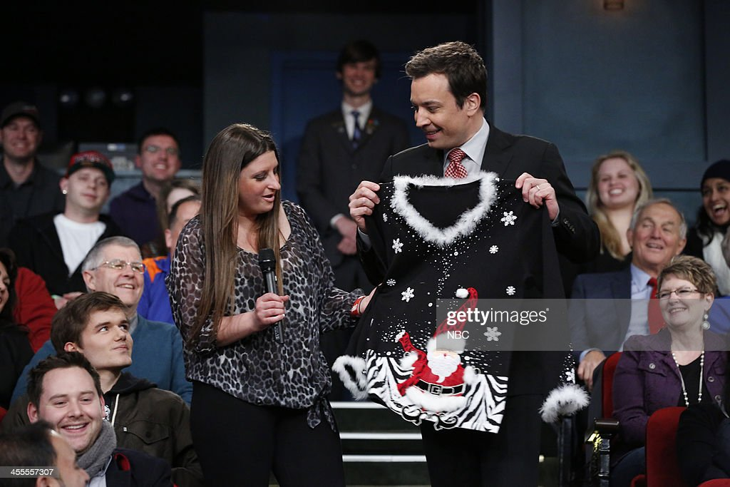 Host Jimmy Fallon Gives Away Another Festive Christmas Sweater To