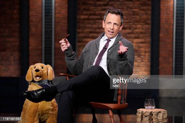Host Seth Meyers during the sketch Back in My Day on January 29 2020