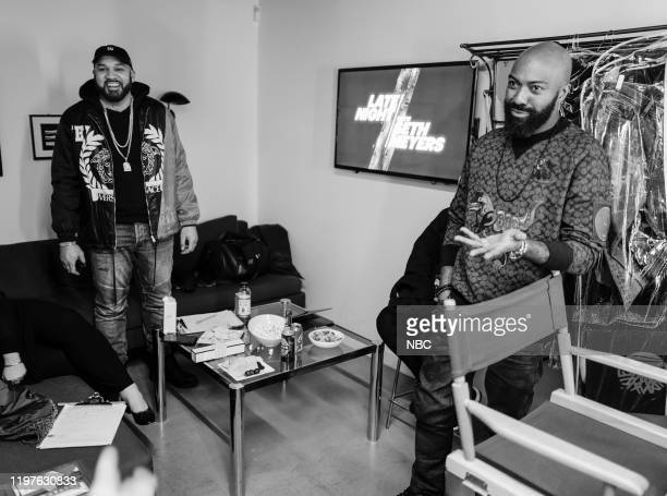 The Kid Mero Desus Nice Desus Mero backstage on January 29 2020