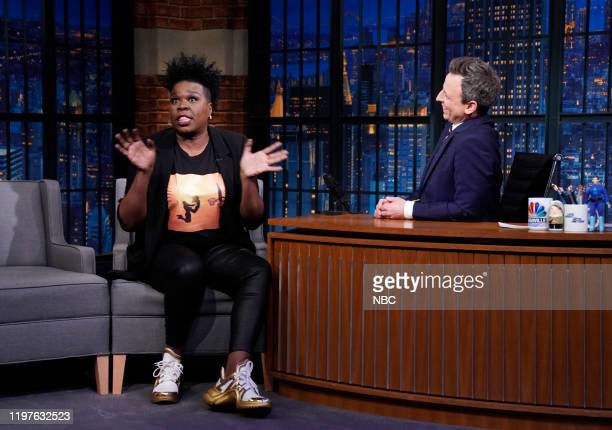 Episode 945 -- Pictured: Comedian Leslie Jones during an interview with host Seth Meyers on January 30, 2020 --