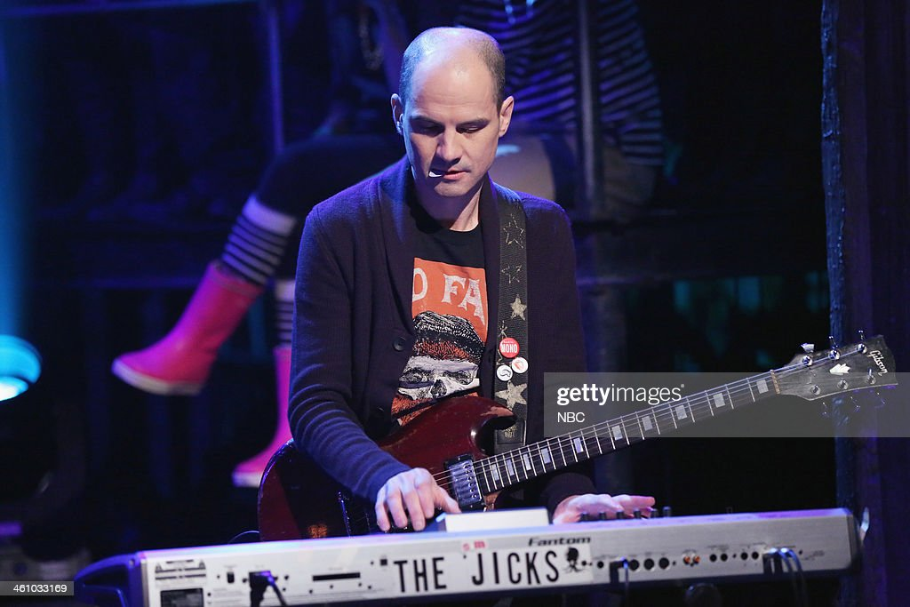 Musical guest Mike Clark of Stephen Malkmus & The Jicks perform 'Lariat' on Monday, January 6, 2014 -- (Photo by: Lloyd Bishop/NBC/NBCU Photo Bank via Getty Images)...