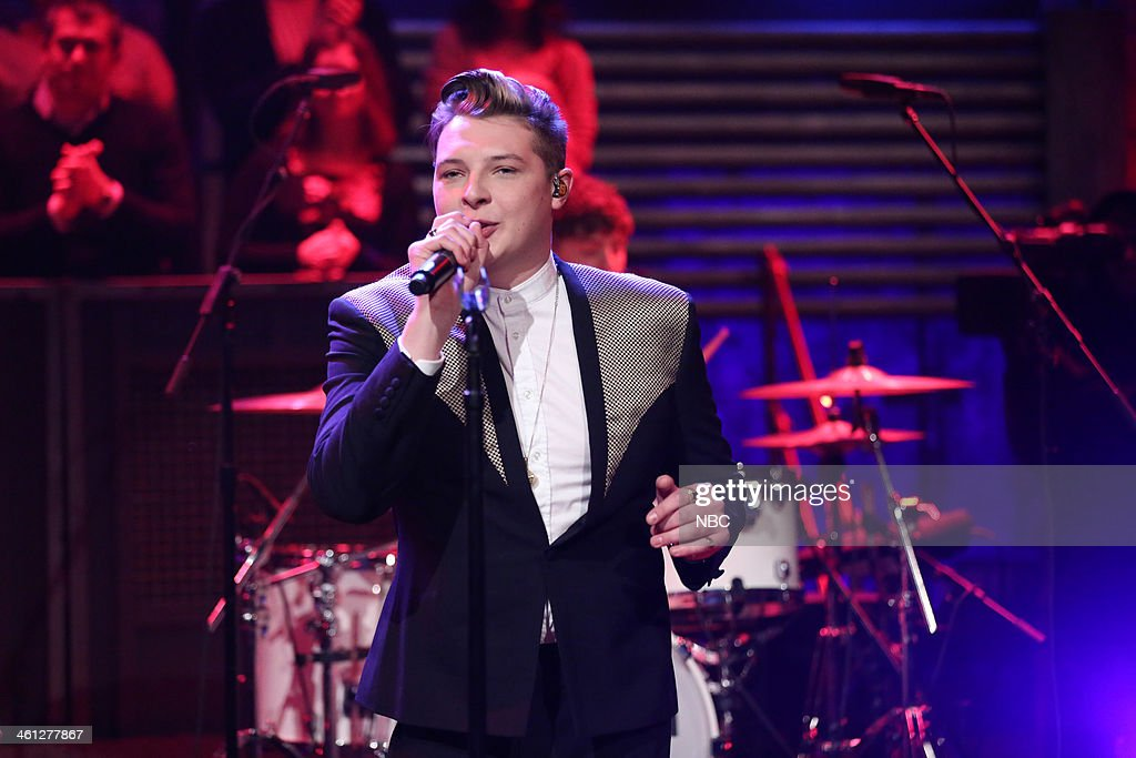 Music guest John Newman performs 'Love Me Again' on Tuesday, January 7, 2014 --