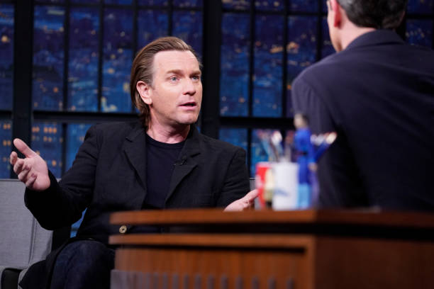 "NY: NBC'S ""Late Night With Seth Meyers"" With Guests Ewan McGregor, Rob McElhenney, Erin Jackson (Band Sit-In: Ilan Rubin)"