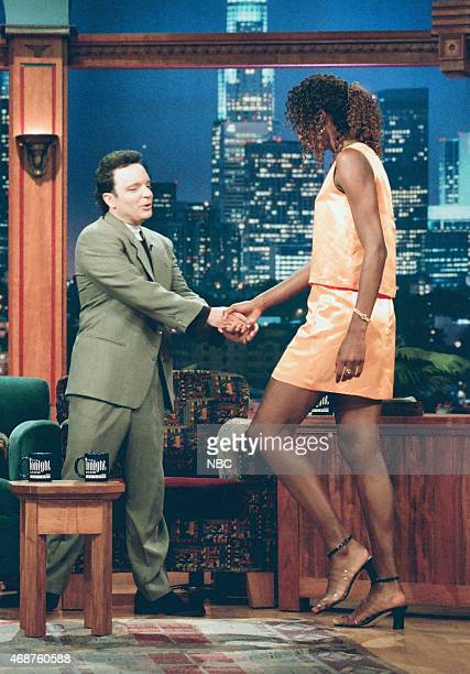 Comedian Richard Jeni and professional basketball player Lisa Leslie on June 20 1996