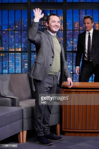 Episode 949 -- Pictured: Actor Elijah Wood arrives on February 6, 2020 --