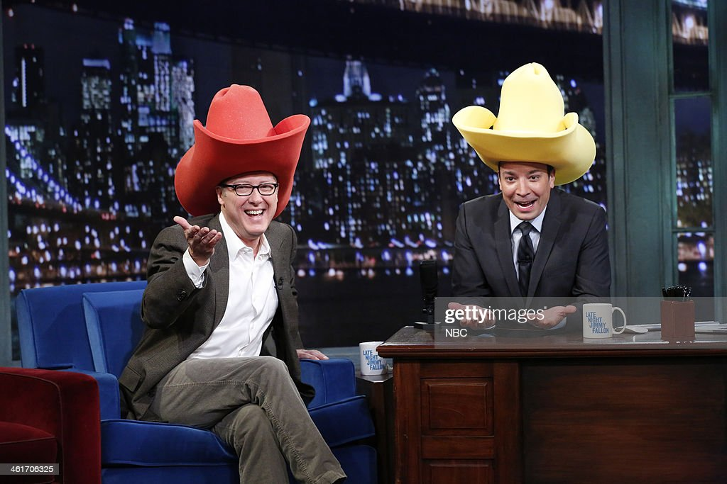 9bc486a85b769 James Spader with host Jimmy Fallon during an interview on Friday ...