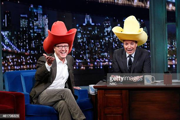 James Spader with host Jimmy Fallon during an interview on Friday January 10 2014