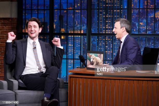 Actor Zach Woods during an interview with host Seth Meyers on February 10 2020