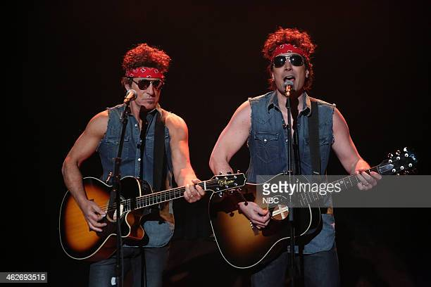 Bruce Springsteen and Jimmy Fallon perform Gov Christie Traffic Jam on Tuesday January 14 2014