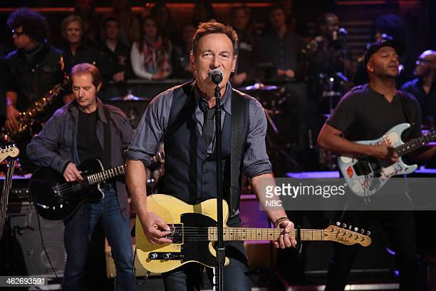 Episode 951 -- Pictured: Musical guest Bruce Springsteen and the E Street Band perform on Tuesday, January 14, 2014 --