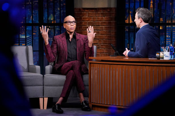 "NY: NBC'S ""Late Night With Seth Meyers"" With Guests RuPaul, Stacey Abrams, Maria Bamford (Band Sit-In: Elijah Wood)"