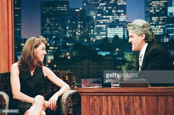 Olympic track athlete Mary Decker during an interview with host Jay Leno on July 8 1996