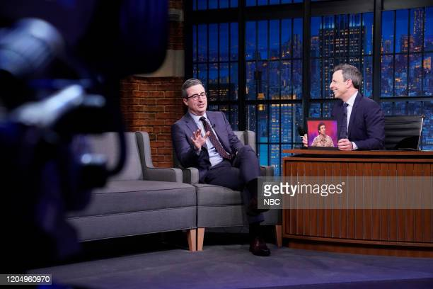John Oliver during an interview with host Seth Meyers on March 3 2020