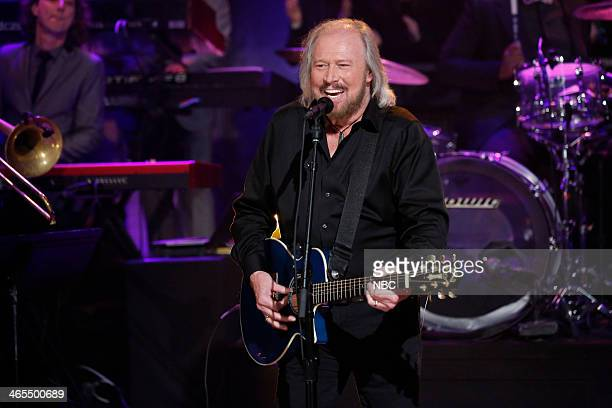 Musical guest Barry Gibb performs You Should Be Dancin' on Monday January 27 2014