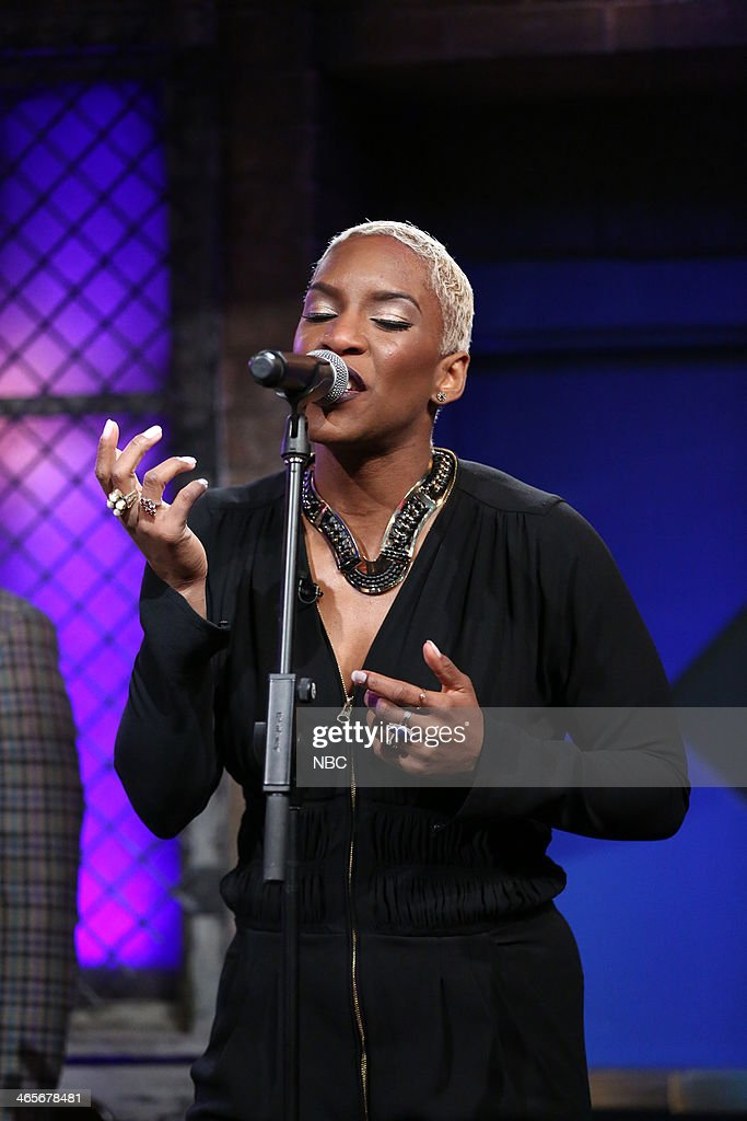 Musical guest Liv Warfield performs 'Why Do You Lie' on Tuesday, January 28, 2014 -- (Photo by: Lloyd Bishop/NBC/NBCU Photo Bank via Getty Images).