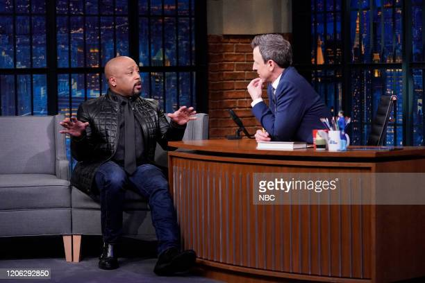 Episode 962 -- Pictured: Daymond John during an interview with host Seth Meyers on March 9, 2020 --