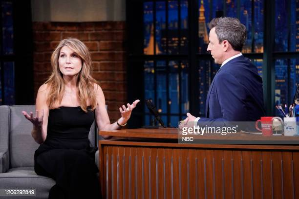 Nicolle Wallace during an interview with host Seth Meyers on March 9 2020