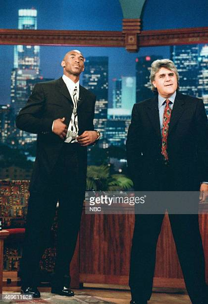 Professional basketball player Kobe Bryant during an interview with host Jay Leno on July 17 1996