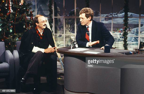 Racecar driver Bobby Rahal during an interview with host David Letterman on December 4 1987