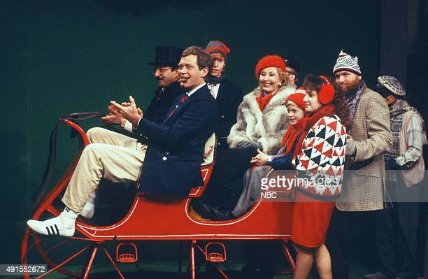 Racecar driver Bobby Rahal Host David Letterman Beth Holland Greg Lapkin Heather Biggs Keya Denner Dale Suter Bill Luhrs during 'Old Fashioned...