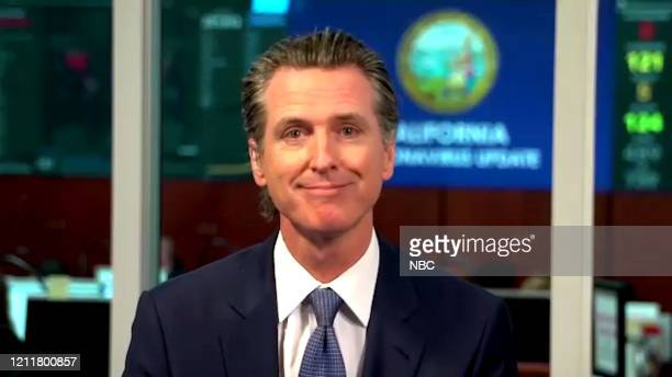 MEYERS Episode 980A Pictured in this screen grab Gov Gavin Newsom during an interview on April 30 2020