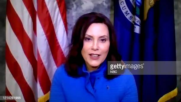 MEYERS Episode 989A Pictured in this screen grab Gov Gretchen Whitmer during an interview on May 18 2020