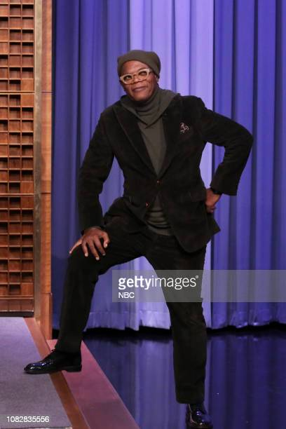 Actor Samuel L Jackson arrives to the show on January 14 2019