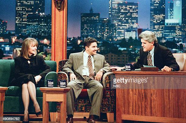 Actress Diane Keaton and actor Nicholas Turturro during an interview with host Jay Leno on September 13 1996