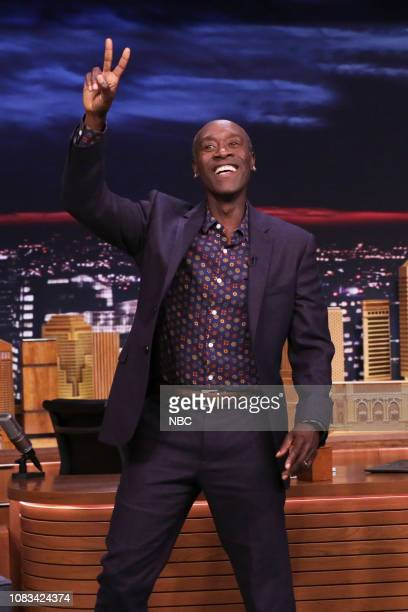 Actor Don Cheadle arrives to the show on January 16 2019
