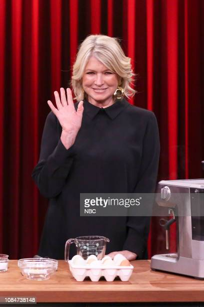Author Martha Stewart during a food demo on January 18 2019